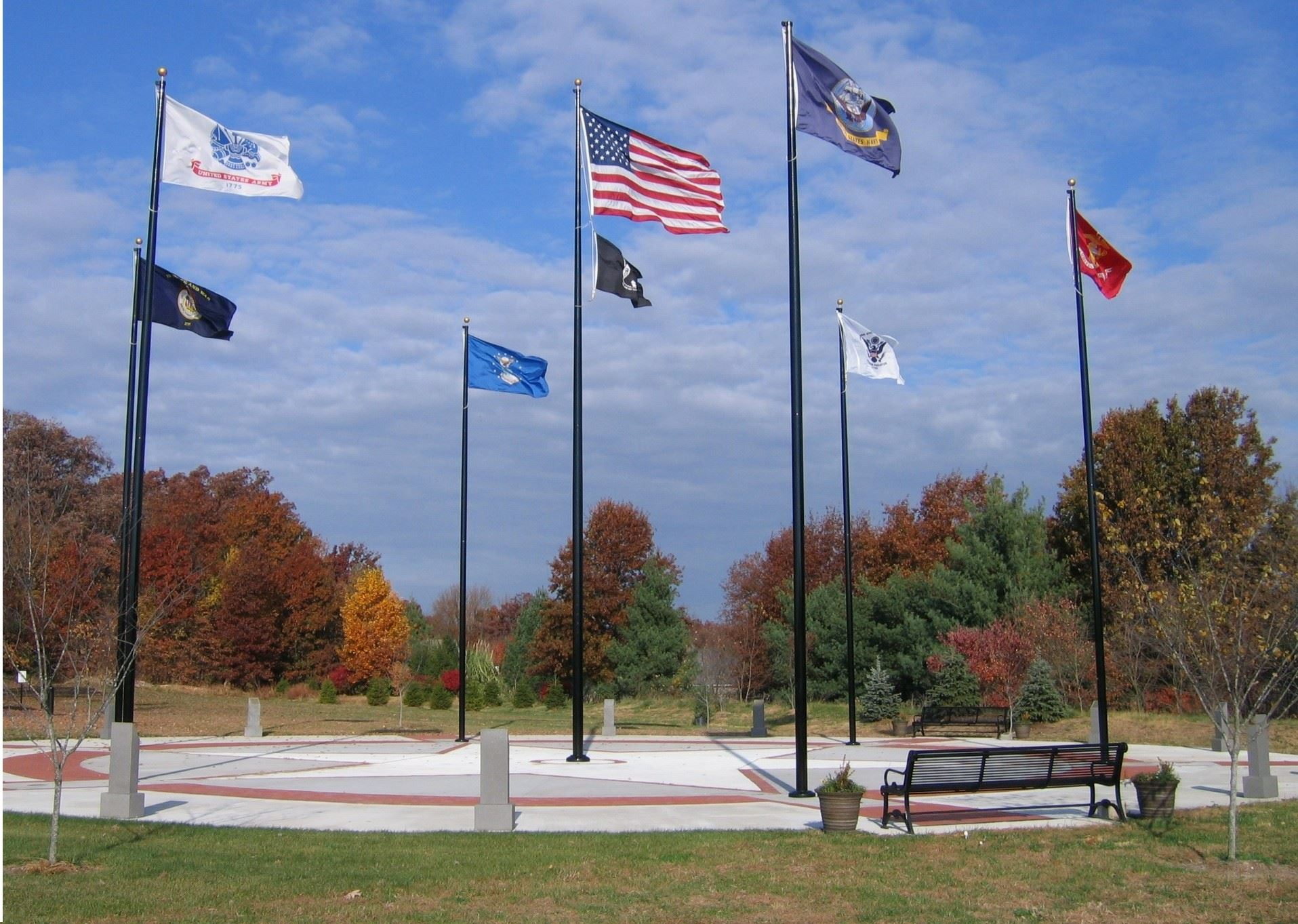 Veterans Memorial Park Flags