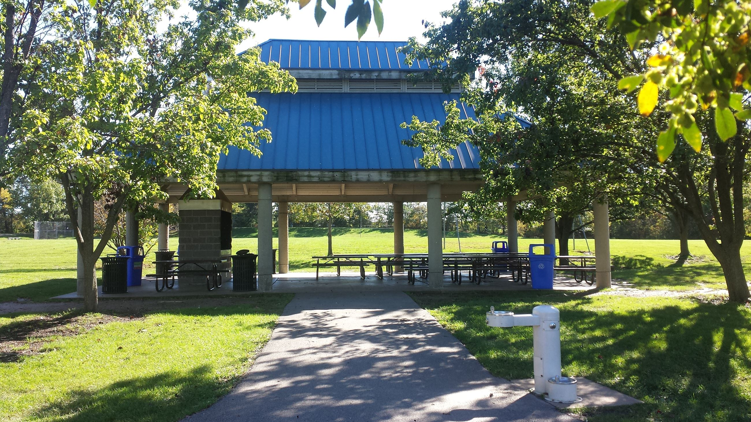 Boulevard Park Pavilion Before with Blue Roof