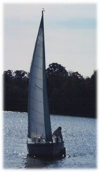 Sailboat on Lake Saint Louis
