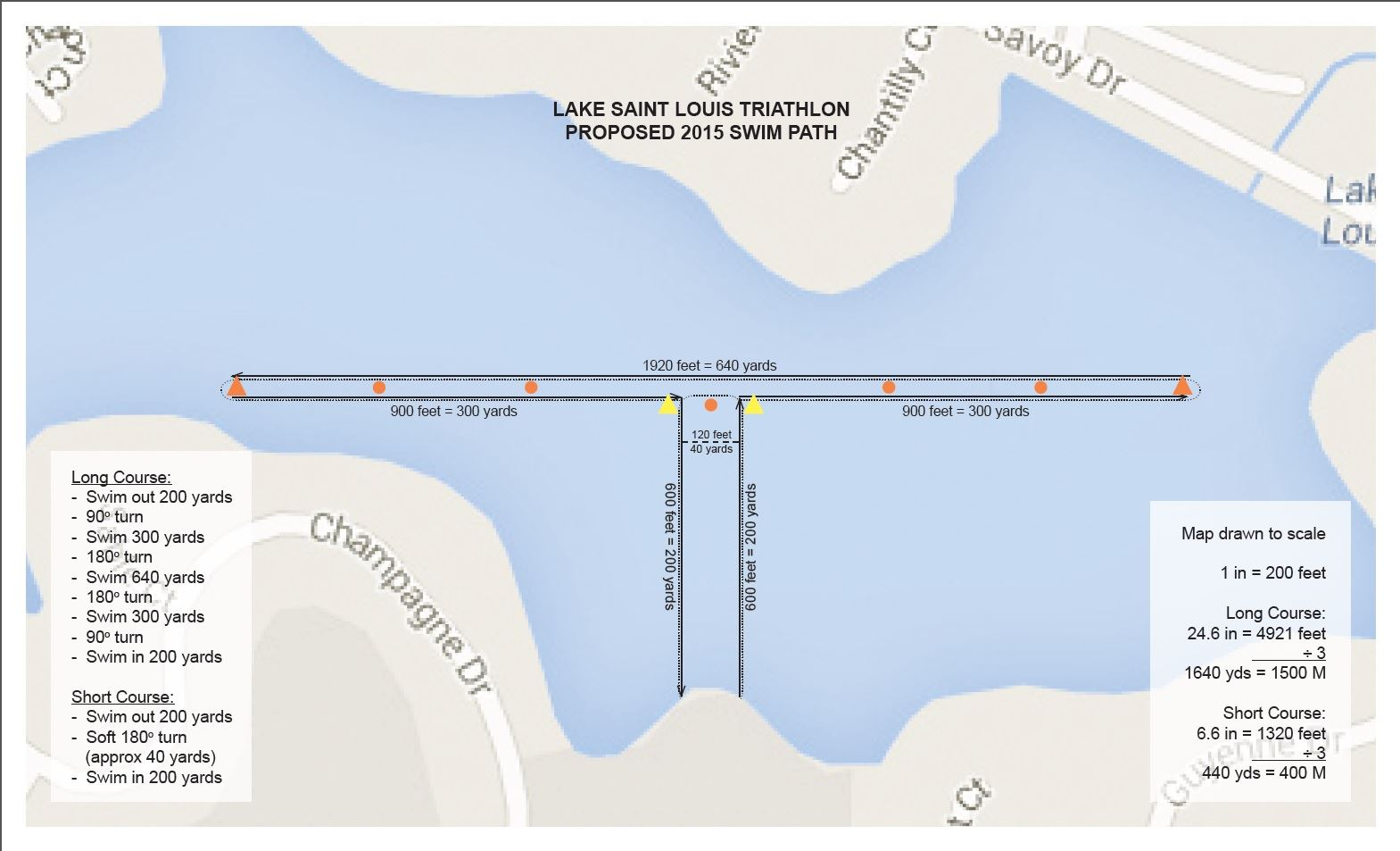 Swim Course Map